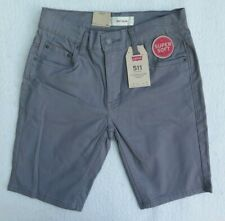 Levi's Boys' 511 Slim Fit Soft Brushed Grey Shorts Size 12REG W26 NWT MSRP$42.00