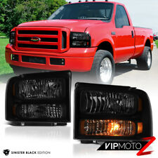 "For 99-04 Ford F250 F350 SuperDuty ""SINISTER BLACK SMOKE CONVERSION"" Headlight"