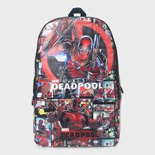 Marvel Deadpool Logo Leather Sports Shoulder Backpack School Bag Cool Gift 982edbbfc5ba4