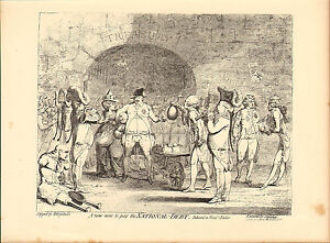 1873 james gillray ( the caricaturist ) print. new way to pay the national debt