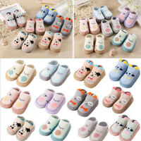 Newborn Baby Boys Girls Cartoon Ears Floor Socks Anti-Slip Baby Slippers Shoes P