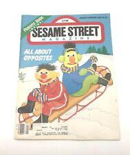 Vtg Sesame Street Magazine (January/February, 1987) All About Opposites Muppets
