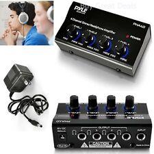 Headphone Amplifier Stereo Splitter Portable Amp 4 Channel Mini Pro Audio Mixer
