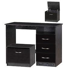 New Black Gloss & Ash Dressing Table + Ottoman Storage Stool Bedroom Set Units