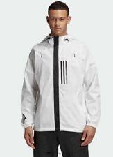 ADIDAS windbreaker jacket hoodie white ~ M