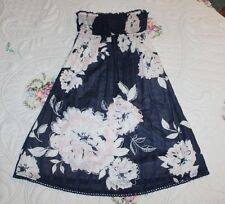 Abercrombie & Fitch JUNIORS XS Navy Blue Pink Floral Short Sundress or Long Top
