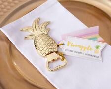 50 GOLD PINEAPPLE BOTTLE OPENER Favors Hawaiian Beach Theme Wedding Favor