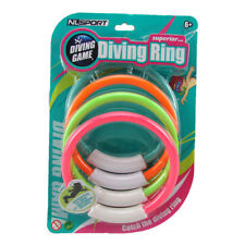 New High Quality Colourful Dive Rings 4-Pack Perfect Swimming Pool Game Ages 6+