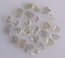 WHITE SLICE FLAT UNCUT 3 FACET POLKI LOOSE NATURAL DIAMOND 1 CT LOT SCOOP GEM