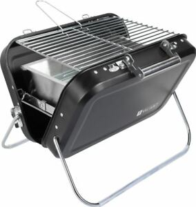 Valiant Portable Picnic BBQ - Folding Camping Grill - Suitcase Charcoal Barbecue