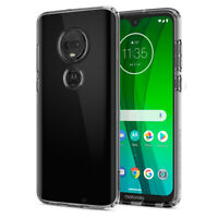 Moto G7, G7 Plus | Spigen® [Liquid Crystal] Crystal Clear Slim Case Cover