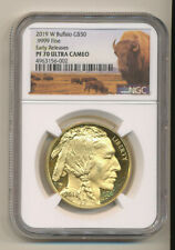 2019 W $50 Buffalo NGC PF70 Proof UCAM EARLY RELEASES GOLD PR70 LOW Mintage