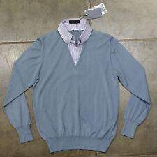 NEW Alexander McQueen Grey Knitwear with Shirt Insert GENUINE RRP: £405