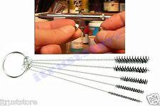 Airbrush Cleaning Brush Set Airbrushing Paint Spray Gun Tube Cylinder