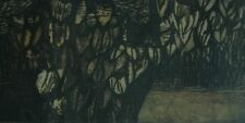 """Mid Century Original Etching """"Crocus"""" By Ruth Leaf Signed & Numbered 5/25"""