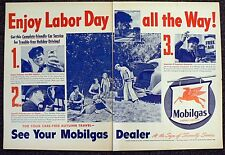 OLD MOBIL GAS OIL TWO PAGE MAGAZINE AD