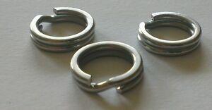 Stainless Steel split rings 5mm (outside diameter) 100 pack!