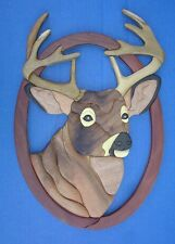 Western Wall Decor Unique ~Buck Head~ Handmade Wood Wall Hanging