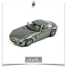 Schuco 1/43 - Mercedes SLS AMG 2010 gris foncé métallisé