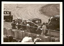 sc18 1930s STOCK CAR Dirt Track Race PILE-UP Wreck ORIGINAL August 12 1956 Photo