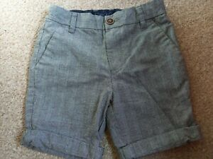 BOYS SIZE 6 YEARS NEXT BLUE CHECKED SHORTS GOOD CONDITION