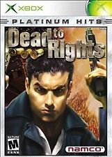 Dead to Rights Platinum Hits (Microsoft Xbox, Xbox 360, Xbox One, 2002)