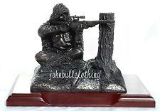 CECCHINO in ginocchio Figura - MILITARE bronzo resina statua/SCULTURA
