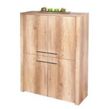 Commode buffet bahut haut meuble de rangement bureau cuisine séjour décor chêne