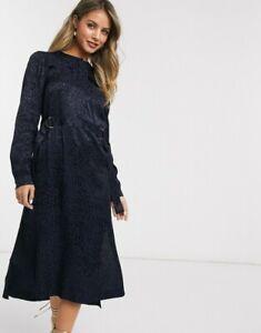Ted Baker KINZLEY satin animal print dress RRP £179 Size 2 UK 10 Midi