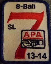 APA SKILL LEVEL 7 PATCH AMERICAN POOLPLAYERS 2013-2014