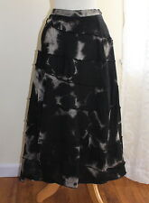 Ivan Grundahl 42 Gray Black Washed Deconstructed Balloon Sculptural Linen Skirt