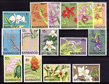 BARBADOS Orchids  1974 set Sg485-499 (missing Sg500 - the $10) MNH • FREE POST •