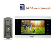 "720P AHD HD 7"" Color Video Intercom Door Phone Record System IR Camera Doorbell"
