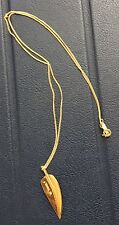 RARE Tiffany & Co. Angela Cummings 18k Yellow Gold Leaf Feather Pendant Necklace