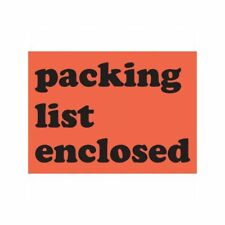 """Box Packaging """"Packing List Enclosed"""" Labels, 3"""" x 4"""" 500 Per Roll, 1 Roll"""