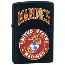 Zippo 218.539 Black Matte US Marines Finish Lighter