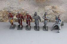 Ancienne figurine en alu Aluminium QUIRALU ? Soldats Afrique du Nord Tambour