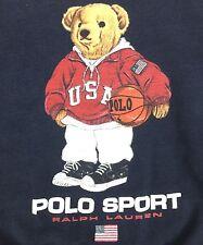 RALPH LAUREN POLO BEAR VINTAGE BASKETBALL WARM SWEATSHIRT YOUTH KIDS BOYS SIZE 6
