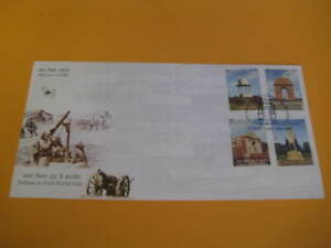 India 2019 Set of 4 FDCs on Indians in First World War - Limited Edition