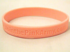 Join the Pink Army Wristband Rubber Bracelet Breast Cancer Awareness Collectible