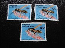 COTE D IVOIRE - timbre yvert/tellier n° 682 x3 obl (A28) stamp