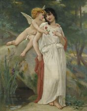 Seignac Guillaume The Woman Has The Angel Print 11 x 14  # 3619