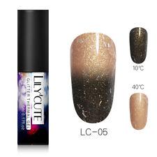 LILYCUTE Soak Off UV Gel Thermal Glitter Color Changing Nail Art Gel Polish