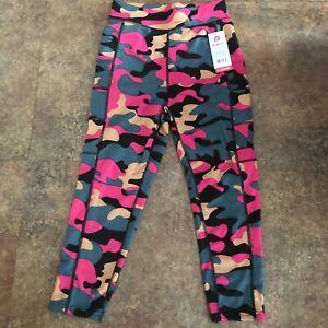 Popfit Leggings Size M Pink Crops 3/4 Length Pop Fit 2351-87 Activewear Stella