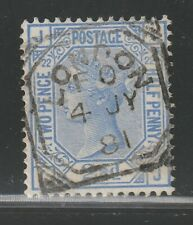 1881 21/2d Blue sg157 pl22 used