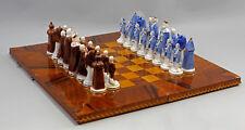 """41621# PORCELLANA personaggio gioco degli scacchi """"re U. popolare"""" ENS hca.12cm"""