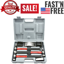 20709A Heavy Duty Auto Body Hammer and Dolly Set, 7 Piece | Repair Kit for Dents