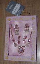 Disney Store Belle Beauty Beas Costume Accessory set Necklace earrings hair clip