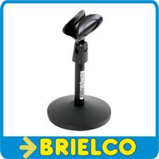 PIE BASE SOBREMESA PARA MICROFONO ALTURA 150MM DIAMETRO 105MM CON PINZA BD3671