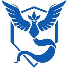 "Pokemon Go Team Mystic Blue Logo 2"" Decal Sticker pokeball nerdy funny (2x)"